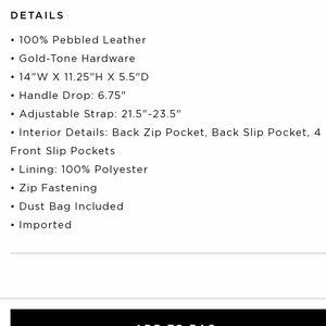 Michael Kors Bags - Michael Kors Black Large Crosby Pebbled Bag